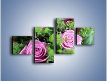 Obraz na płótnie – Bukiet róż wypełniony trawką – czteroczęściowy K068W3