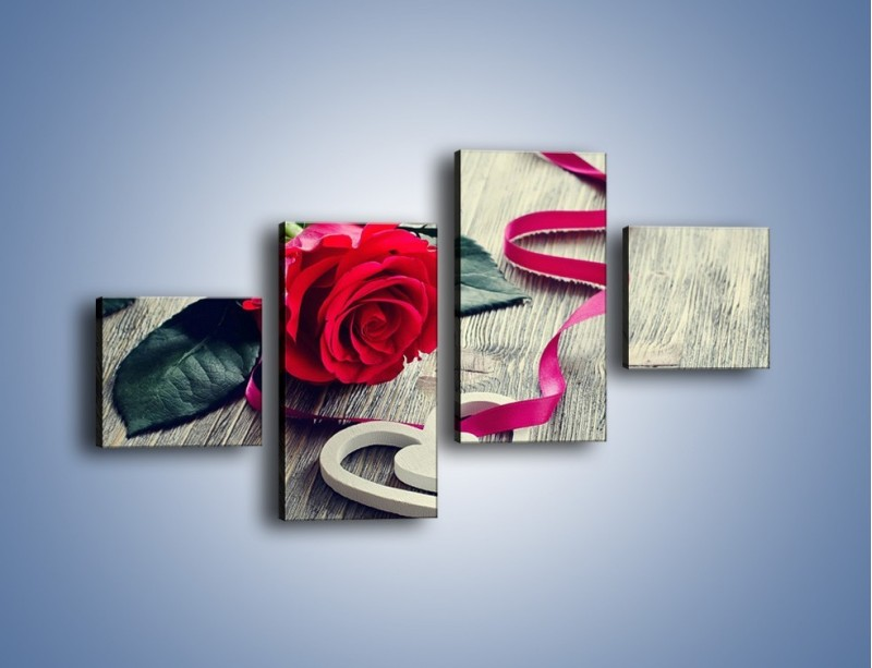 Obraz na płótnie – Od serca aż po różę – czteroczęściowy K1013W3