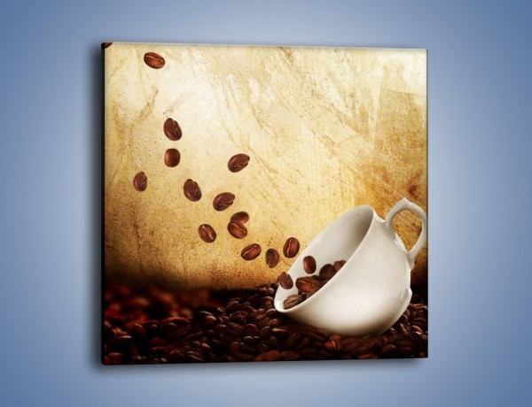 Obraz na płótnie – Rozsypane ziarna kawy – jednoczęściowy kwadratowy JN346