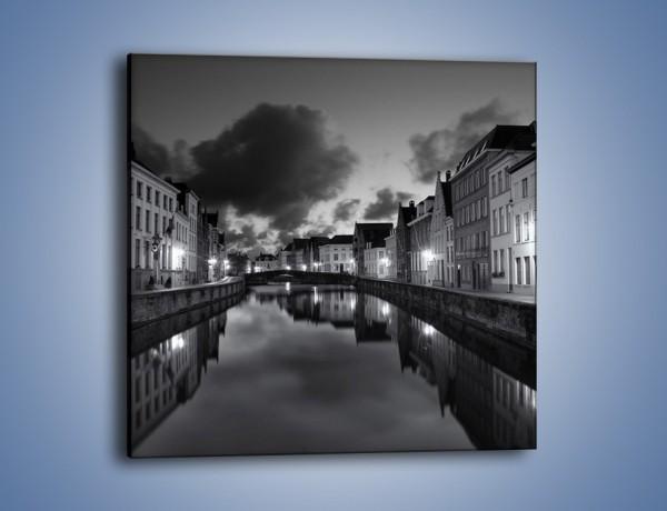 Obraz na płótnie – Urokliwe miasteczko nad kanałem wodnym – jednoczęściowy kwadratowy AM134