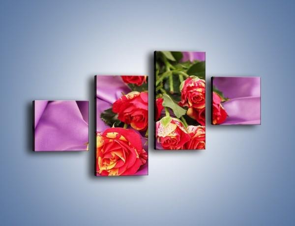 Obraz na płótnie – Błogi odpoczynek z różą – czteroczęściowy K251W3