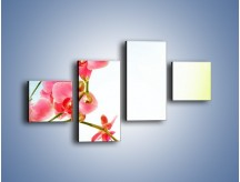 Obraz na płótnie – Akcent kwiatowy – czteroczęściowy K268W3