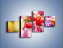 Obraz na płótnie – Boso przez tulipany – czteroczęściowy K344W3