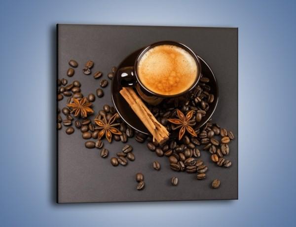 Obraz na płótnie – Kawa z goździkiem – jednoczęściowy kwadratowy JN349