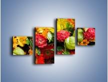 Obraz na płótnie – Bukiet pełen soczystych kolorów – czteroczęściowy K461W3