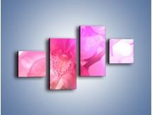 Obraz na płótnie – Budzący dzień w różowym kwiecie – czteroczęściowy K487W3