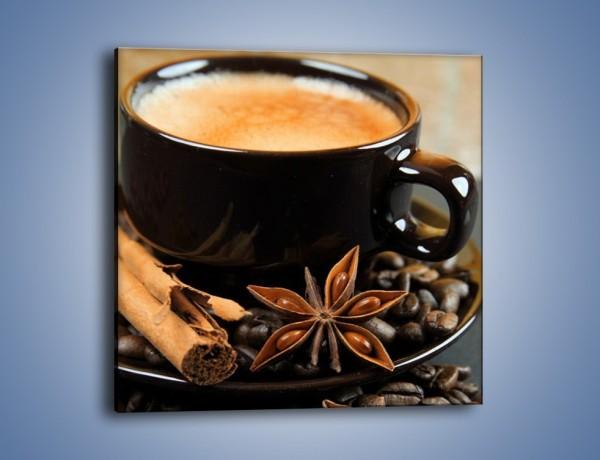 Obraz na płótnie – Spieniona kawa z goździkami – jednoczęściowy kwadratowy JN350