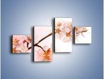 Obraz na płótnie – Blask kwiatów jabłoni – czteroczęściowy K569W3