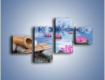 Obraz na płótnie – Baśniowy świat kwiatów – czteroczęściowy K624W3