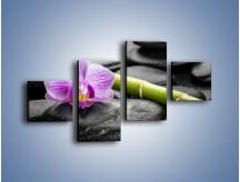 Obraz na płótnie – Bambus czy storczyk – czteroczęściowy K686W3
