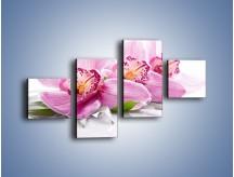 Obraz na płótnie – Biały kwiatowy stół – czteroczęściowy K688W3