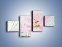 Obraz na płótnie – Cała słodycz w lilii – czteroczęściowy K727W3