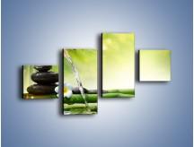Obraz na płótnie – Bambus i źródło wody – czteroczęściowy K930W3