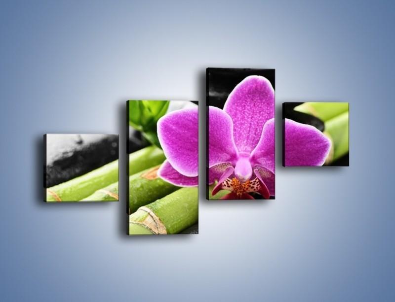 Obraz na płótnie – Idealnie ułożony kwiat – czteroczęściowy K931W3