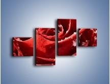 Obraz na płótnie – Chłód w różanych płatkach – czteroczęściowy K932W3