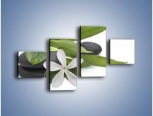 Obraz na płótnie – Artystyczna kompozycja z kwiatem – czteroczęściowy K968W3