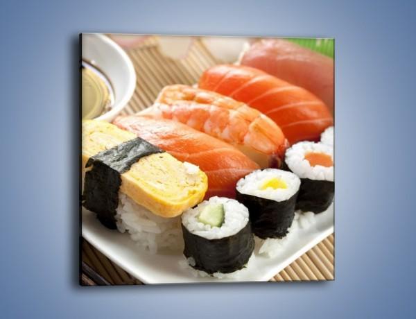 Obraz na płótnie – Azjatyckie posiłki – jednoczęściowy kwadratowy JN355