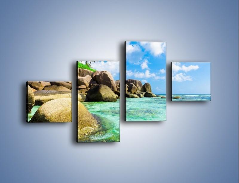 Obraz na płótnie – Lazurowa woda w tropikach – czteroczęściowy KN035W3