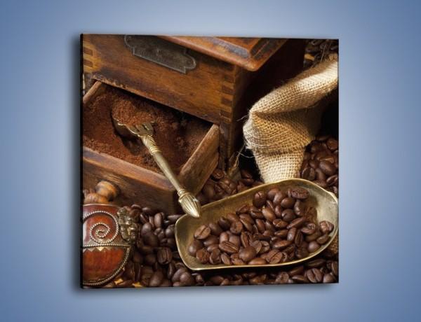 Obraz na płótnie – Szuflada pełna kawy – jednoczęściowy kwadratowy JN356