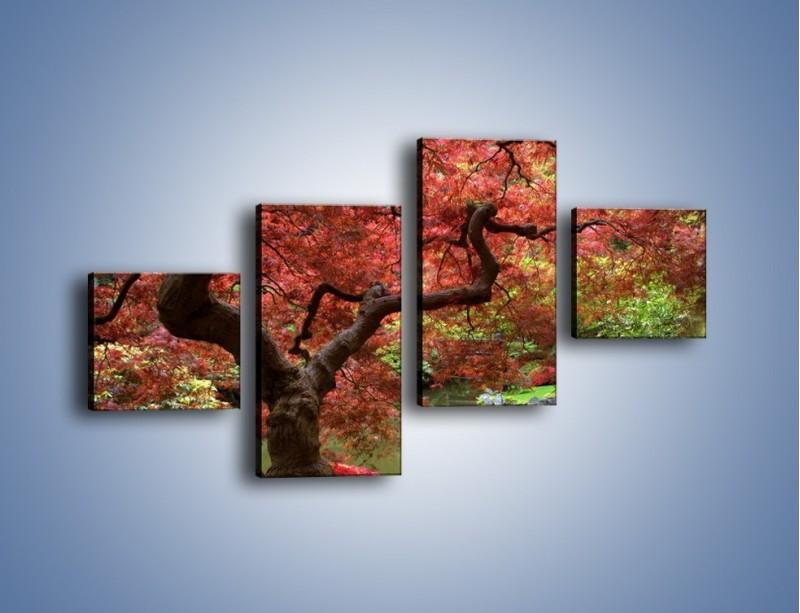 Obraz na płótnie – Pejzaż jak w raju – czteroczęściowy KN069W3