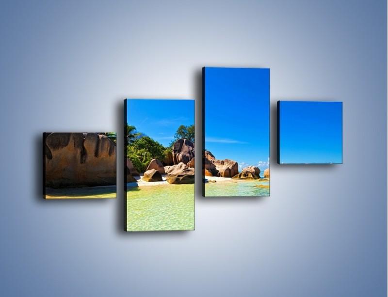 Obraz na płótnie – Bezludna wyspa i ja – czteroczęściowy KN1058W3