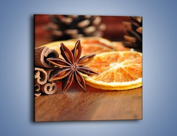 Obraz na płótnie – Pomarańcza z dodatkami – jednoczęściowy kwadratowy JN357