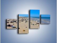 Obraz na płótnie – Całe morze kamyczków – czteroczęściowy KN1086AW3