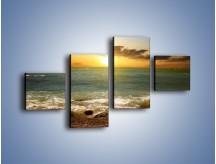 Obraz na płótnie – Brzegiem w stronę morza – czteroczęściowy KN1092AW3