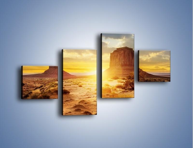 Obraz na płótnie – Budowle na piachu – czteroczęściowy KN1133AW3