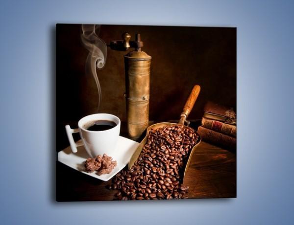 Obraz na płótnie – Opowieści przy mocnej kawie – jednoczęściowy kwadratowy JN360