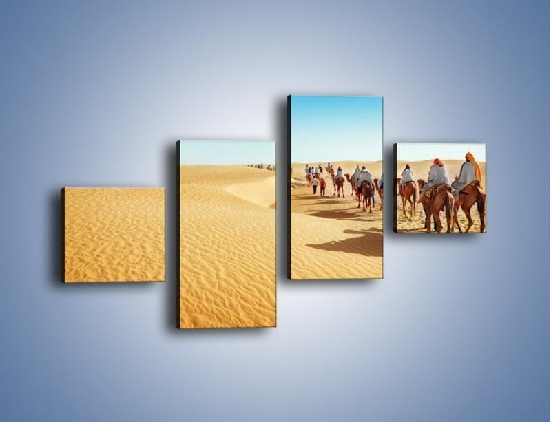 Obraz na płótnie – Szła karawana przez pustynię – czteroczęściowy KN1173AW3