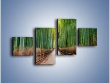 Obraz na płótnie – Bambusowy las – czteroczęściowy KN1187AW3