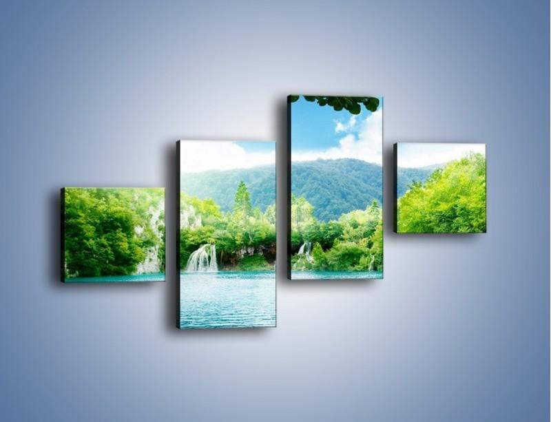 Obraz na płótnie – Kąpiel w chłodnej wodzie – czteroczęściowy KN1200AW3