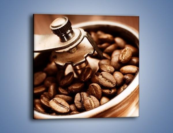 Obraz na płótnie – Kawa w młynku – jednoczęściowy kwadratowy JN361