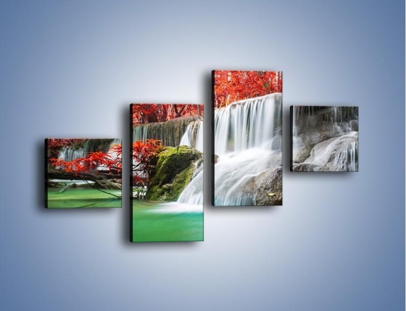 Obraz na płótnie – Zachwycić się naturą – czteroczęściowy KN1250AW3