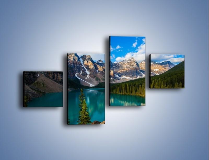 Obraz na płótnie – Spokój w górach – czteroczęściowy KN1258AW3
