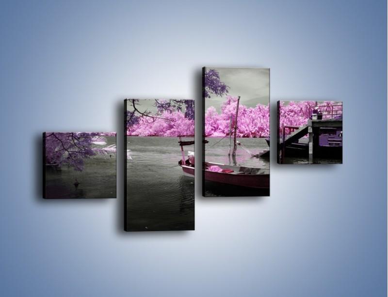 Obraz na płótnie – Krajobraz jak z japonii – czteroczęściowy KN1277AW3