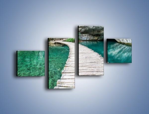 Obraz na płótnie – Wędrówka wśród skał – czteroczęściowy KN1278AW3