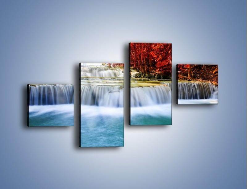 Obraz na płótnie – Jak przyjemnie nad wodą – czteroczęściowy KN1291AW3