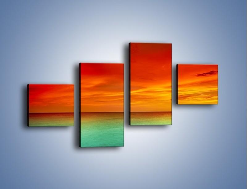Obraz na płótnie – Horyzont w kolorach tęczy – czteroczęściowy KN1303AW3
