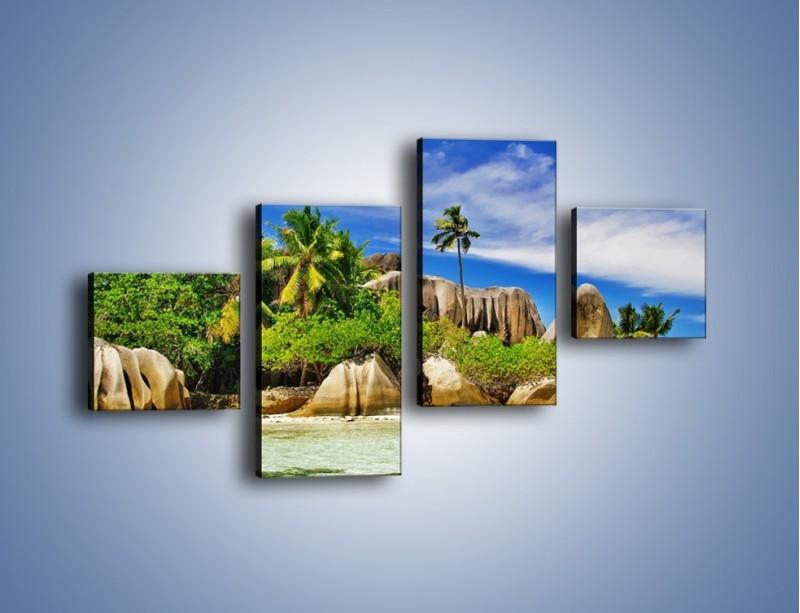 Obraz na płótnie – Tropiki i ich wysokości – czteroczęściowy KN1306AW3