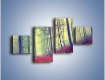 Obraz na płótnie – Bardzo wąską ścieżką leśną – czteroczęściowy KN1335AW3