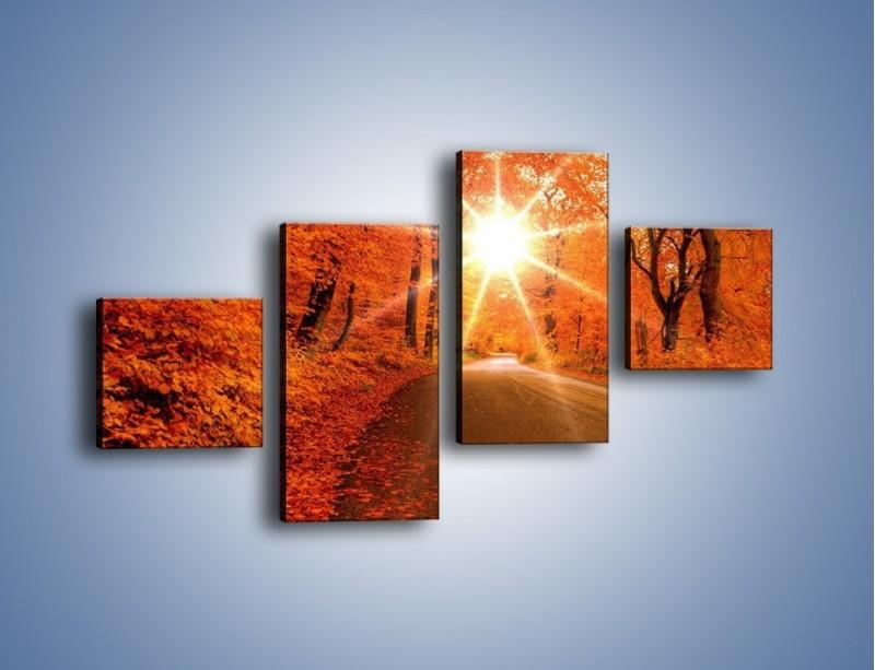 Obraz na płótnie – Droga pełna słońca – czteroczęściowy KN160W3