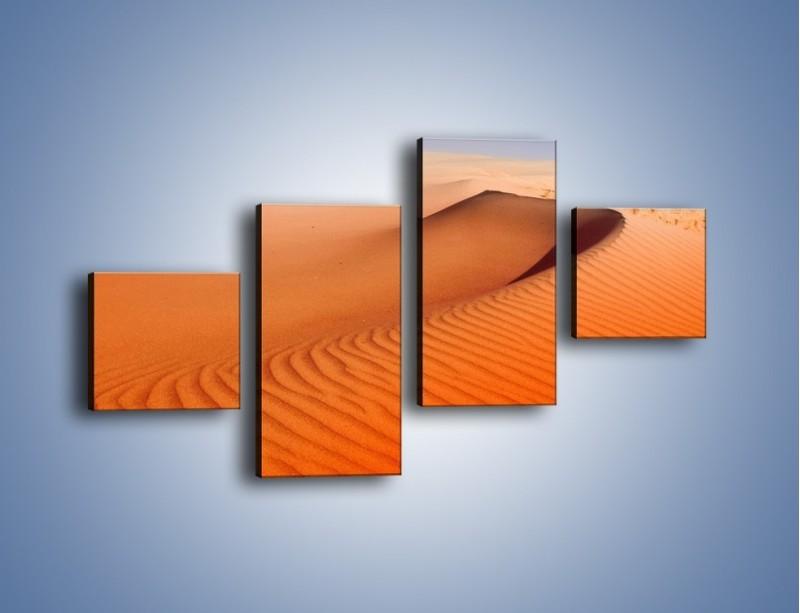 Obraz na płótnie – Pustynny żar – czteroczęściowy KN305W3