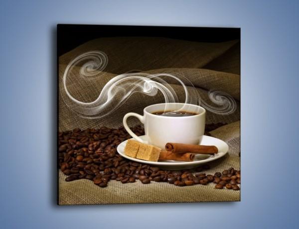 Obraz na płótnie – Zapach kawy niesiony wiatrem – jednoczęściowy kwadratowy JN365