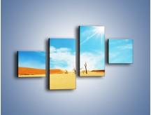 Obraz na płótnie – Błękit nieba i słońce w ziemi – czteroczęściowy KN331W3