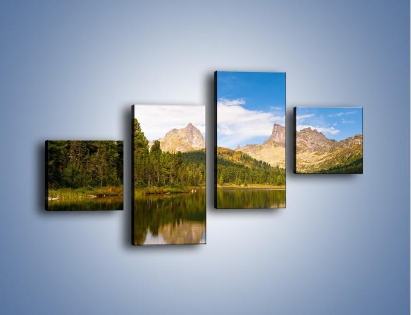 Obraz na płótnie – Widok nie tylko na góry – czteroczęściowy KN401W3
