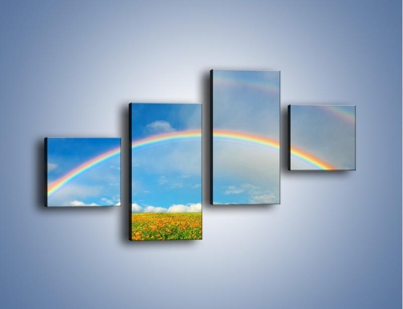 Obraz na płótnie – Urok kolorowej tęczy – czteroczęściowy KN406W3