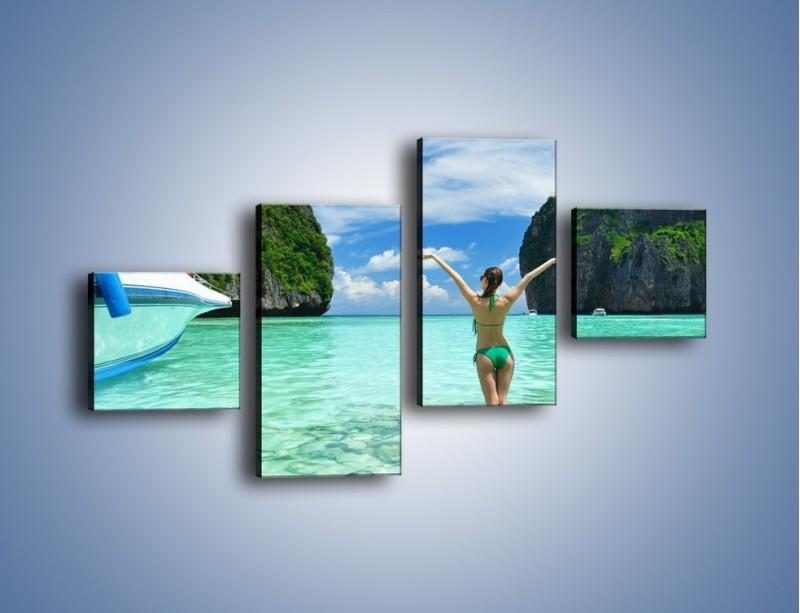 Obraz na płótnie – Udane wakacje w ciepłych krajach – czteroczęściowy KN530W3