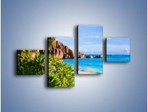 Obraz na płótnie – Brzeg morza jak z bajki – czteroczęściowy KN755W3